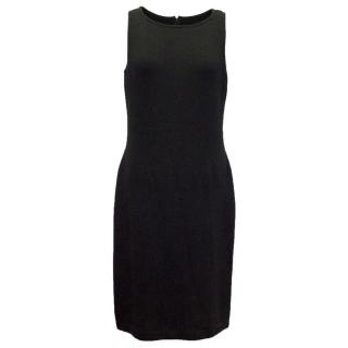 St John Black Tight Knitted Dress