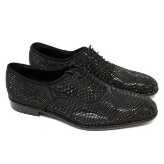 Salvatore Ferragamo Black Swarovski Dress Shoes