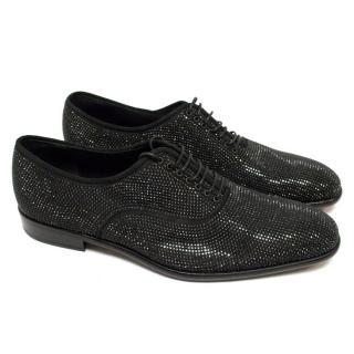 Salvatore Ferragamo Black Swarovski Dress Shoes