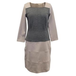 I Blues Beige & Grey Dress
