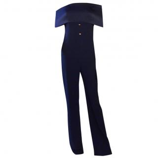Galvan Off The Shoulder Jumpsuit Navy