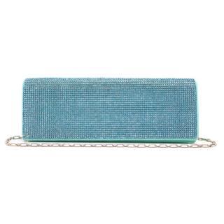 Rene Caovilla Turquoise Crystal Clutch Bag