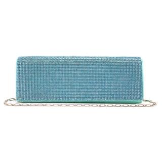 Rene Caovilla Turquoise Crystal Clutch Bag