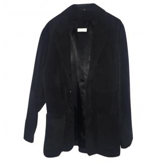 Barneys New York genuine leather blazer