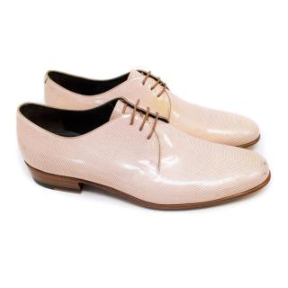 Lanvin Cream Patent with Metallic Pink Spots