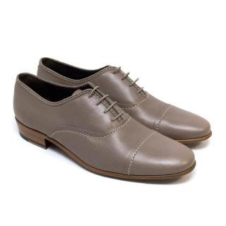 Lanvin Matte Grey Loafers