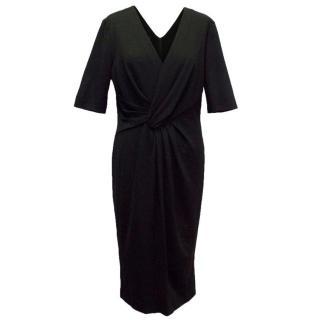 Escada Black Fitted Midi Dress