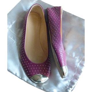 Guiseppe Zanotti Studded Cap Toe Ballerina Flats