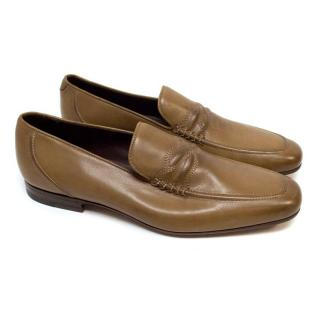 Bottega Veneta Brown Leather Loafers