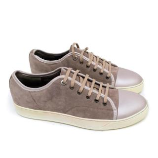 Lanvin Grey Suede Trainers