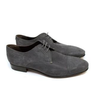 Lanvin Grey Suede Brogues