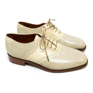 Florsheim Cream and Grey Leather Brogues