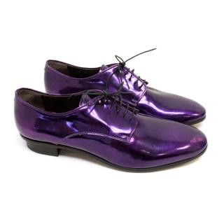 Lanvin Metallic Purple Dress Shoes