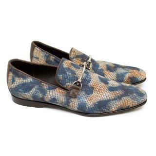 Donald J. Pliner Faux Snakeprint Loafers