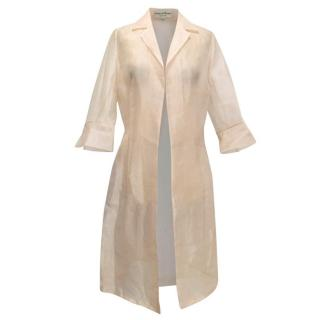 Pedro Del Hierro Peach Net Sheer Jacket