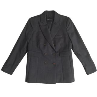 TARA JARMON 100% wool grey double breasted tailored blazer