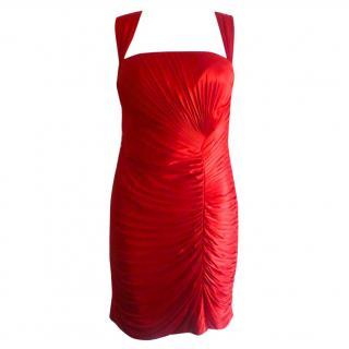 Roberto Cavalli bodycon red party dress