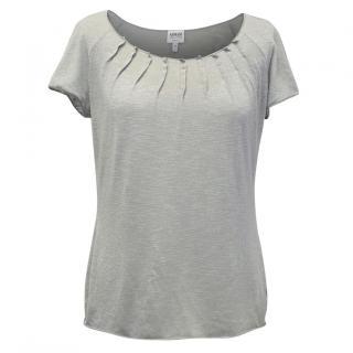 Armani Grey Shimmer Top