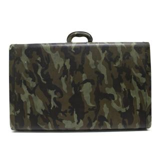 Prada Green Camouflage Print Suitcase