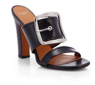 Givenchy Odia Leather Black Mule