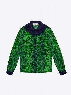 Kenzo & H&M Green And Black Animal Print Top