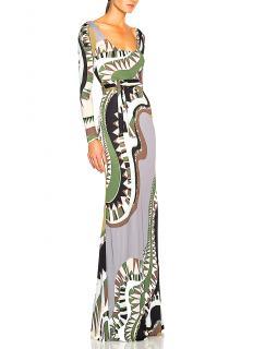 EMILIO PUCCI Niki Print Maxi Dress