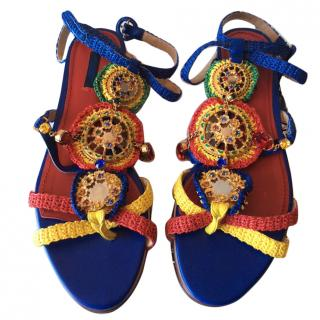 Dolce and Gabbana jewelled sandals