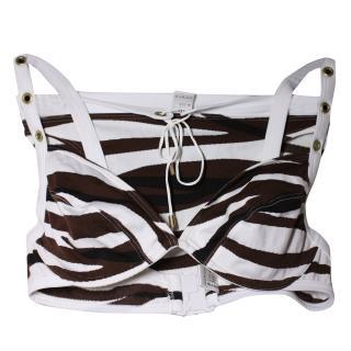 BNIB Wolford Tiger Bikini (bottom XS, top M)