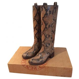 Penelope Chilvers Snake Print Boots