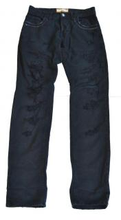 Galliano black distressed jeans
