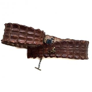 Alexander McQueen crocodile skin belt