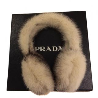 Prada Mink Fur Ear Muffs