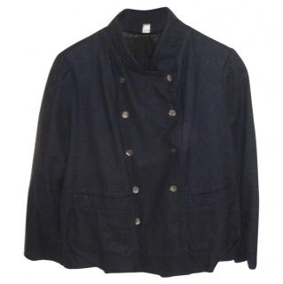 Ghost Navy Blue Casual Short Jacket