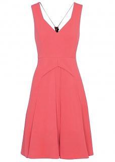 ROLAND MOURET Miller Dress in Rose Pink NEW