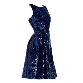Kate Spade Navy Sequin Dress