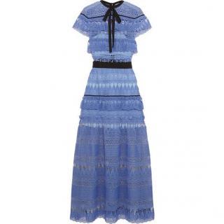 Self Portrait Blue Lace Dress