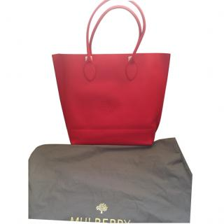 Mulberry Blossom tote, Hibiscus red, New!