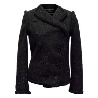 By Malene Birger Black Sparkly Knitted Jacket