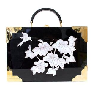Charlotte Olympia Jasmine Perspex and mother-of-pearl clutch