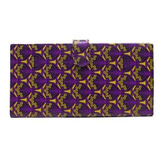 Liberty Purple and Yellow Patterned Wallet