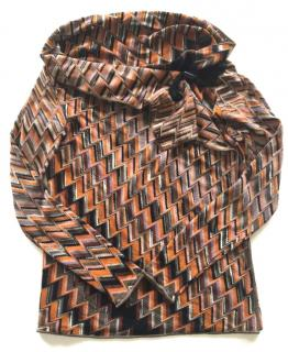 Missoni multicolor zigzag cardigan with shawl neck
