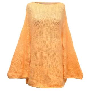 Sonia Rykiel Light Orange Oversized Knitted Jumper