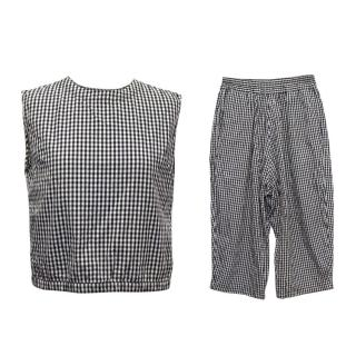 Studio Nicholson Black and White Checked Two Piece