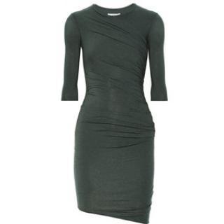 Helmut Lang green dress.