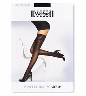 Wolford Black Velvet De Luxe 50 Stay-Ups