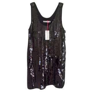 See by Chloe sequinned black party dress