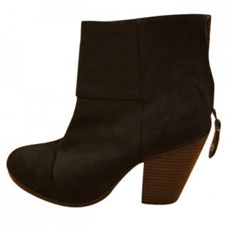 Rag and Bone Newbury Black Suede Boots