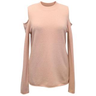 Halston Heritage Pink Cashmere Wool Blend Jumper