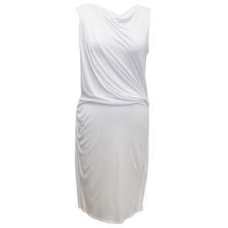 Helmut Lang White Low Back Shift Dress