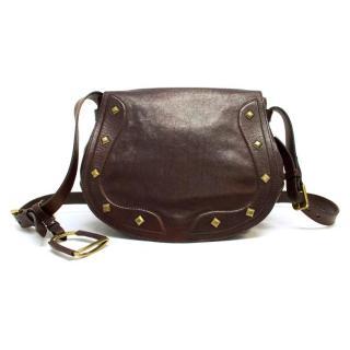 Ralph Lauren Dark Brown Leather Satchel